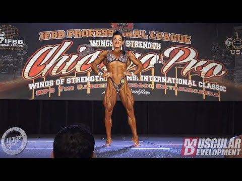 Valentina Mishina's Posing Routine (1st In WPD) | 2019 IFBB Chicago Pro