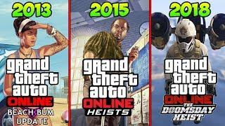 КАКИМИ БЫЛИ ОБНОВЛЕНИЯ В GTA ONLINE 4 ГОДА НАЗАД - (GTA Online 2013 VS GTA Online 2018)