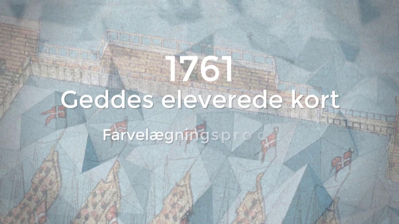 Farvelaegning Af Geddes Eleverede Kort Over Kobenhavn Fra 1761