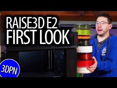 First Look At The Raise3D E2 3D Printer - IDEX / Flexible Bed / Auto Bed Leveling!