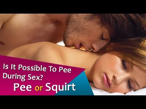 Using urine when having sex