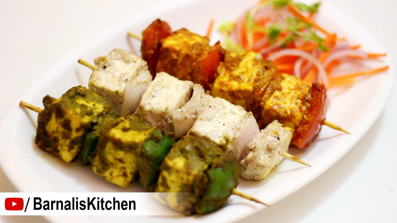 3 Easy Paneer Tikka Recipes Paneer Tikka Recipe Indian Vege Starter Independence Day