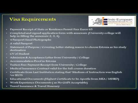 Study in Estonia - Student Visa Process