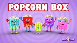 The Finger Family Popcorn Family Nursery Rhyme | Popcorn Finger Family Songs