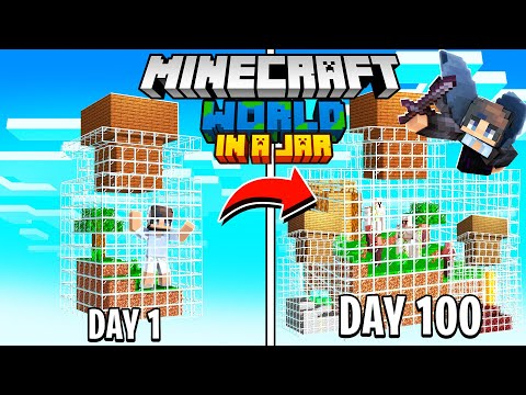 I Survived 100 Days Minecraft in JARS and Here's What Happened..