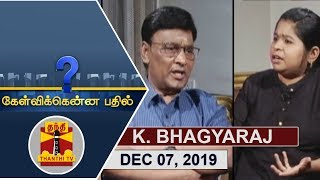 (07/12/2019) Kelvikkenna Bathil | Exclusive Interview with K. Bhagyaraj | Promo