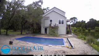 Automatic Pool Cover Box & Flush Track Installation