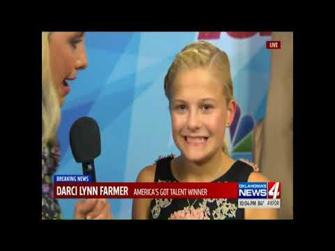 Darci Lynne interviewed on Oklahoma's KFOR News after winning AGT 2017