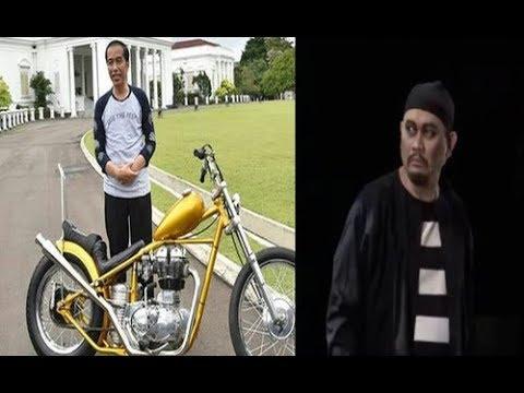 Bikin Ngakak Cak Lontong Mau Nyolong Motor Emas Chopper Pak Jokowi