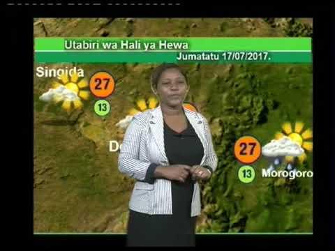 Tanzania Weather Forecast  16/07/2017