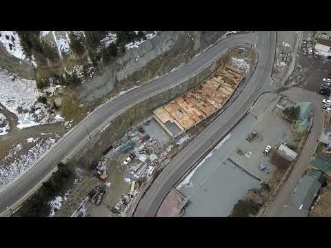 Blackhawk Colorado Plaza Construction January 2018, Gilpin County