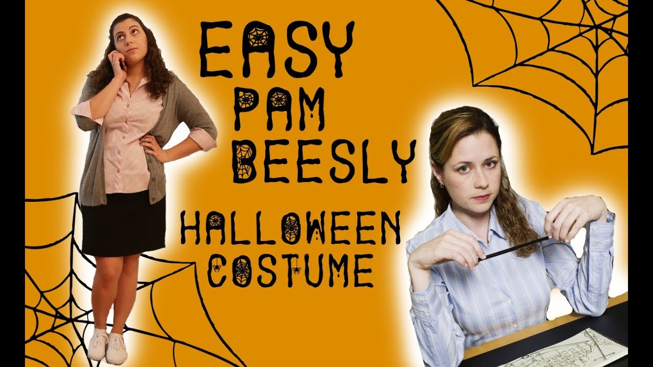 easy last minute halloween costume   pam beesly - youtube