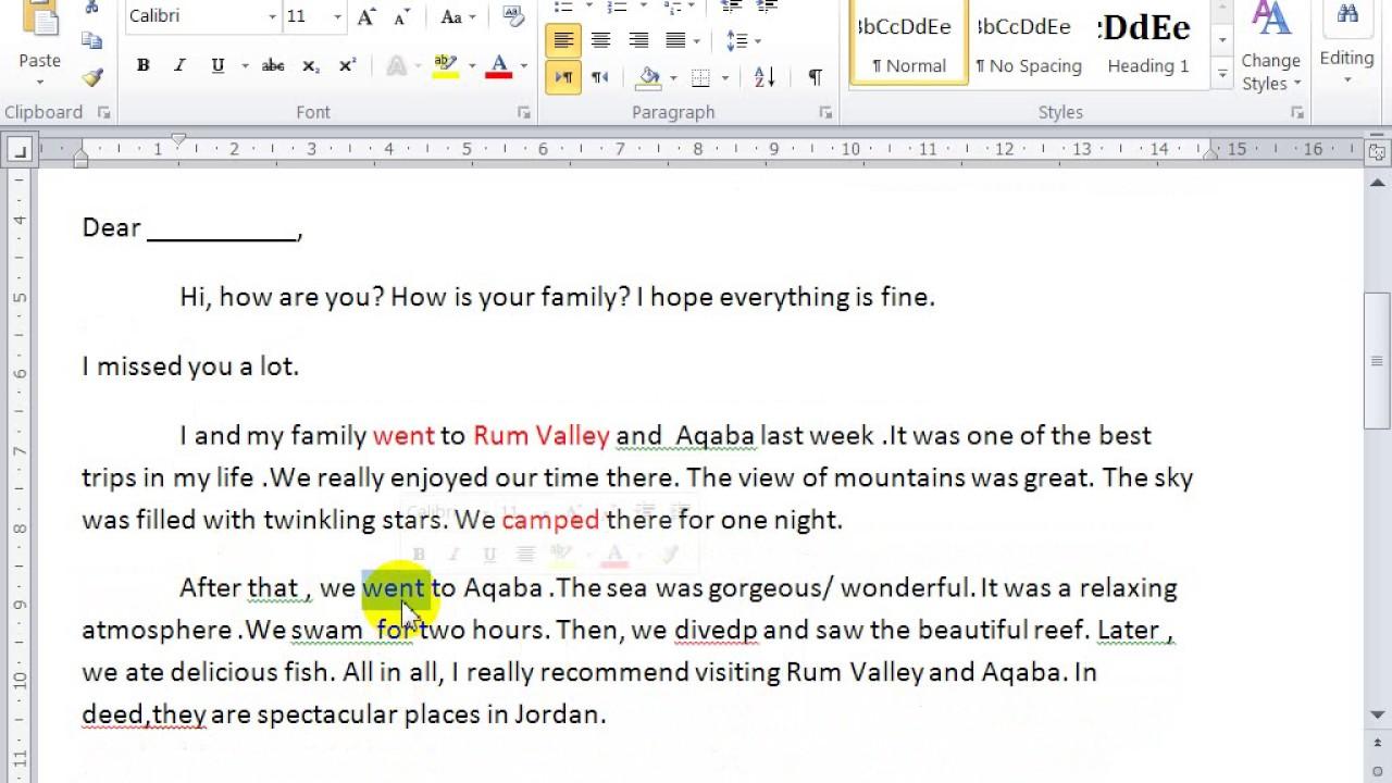 English Writing Informal Email Youtube