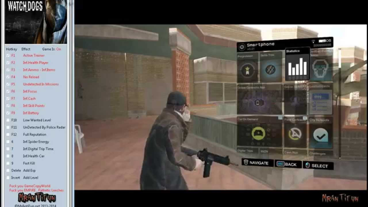 Watch Dogs 2 Trainer >> Watch Dogs V1.00 Trainer +18 - YouTube