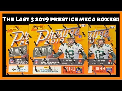 I Picked Up Three More Target 2019 Prestige Mega Football Boxes!! Six Autos!!