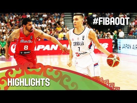 Serbia v Puerto Rico - Highlights - Final - 2016 FIBA Olympic Qualifying Tournament - Serbia