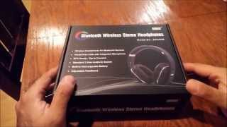 unboxing and video review of august s ep650 wireless bluetooth headphones