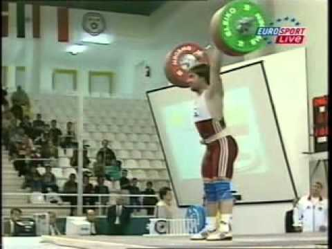 2001 World Weightlifting, 77 Kg Clean and Jerk.avi