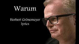 Herbert grönemeyer lyricsherbert lyricsgrönemeyer lyricswarum worte