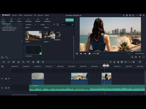 Como cortar y unir un video en Filmora 2019