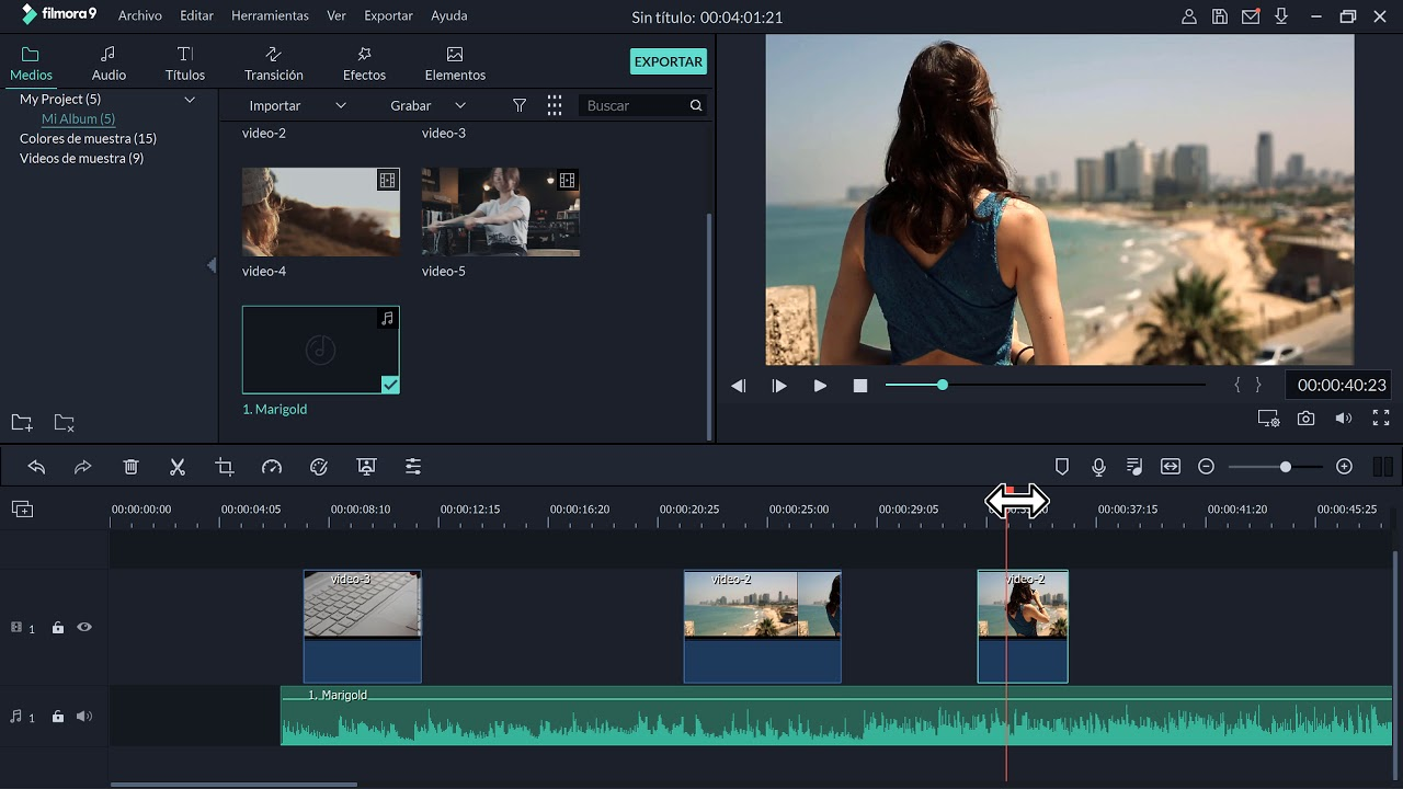 Como cortar y unir un video en Filmora 2019 - YouTube