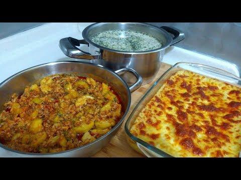 Akşam Yemeği Menüsü/ Kabak Yemeği/Cimcik Çorbası/Fırında Kaşarlı Patates Püresi/Seval Mutfakta