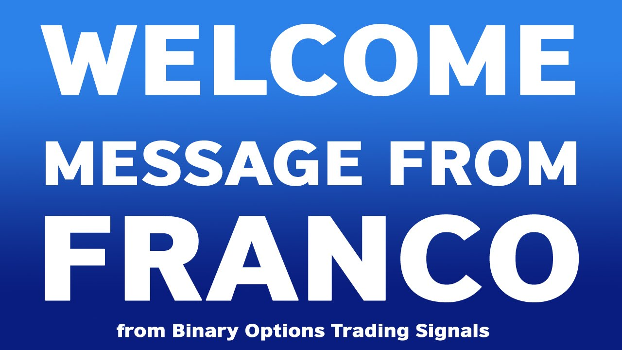 Binary options live signals franco