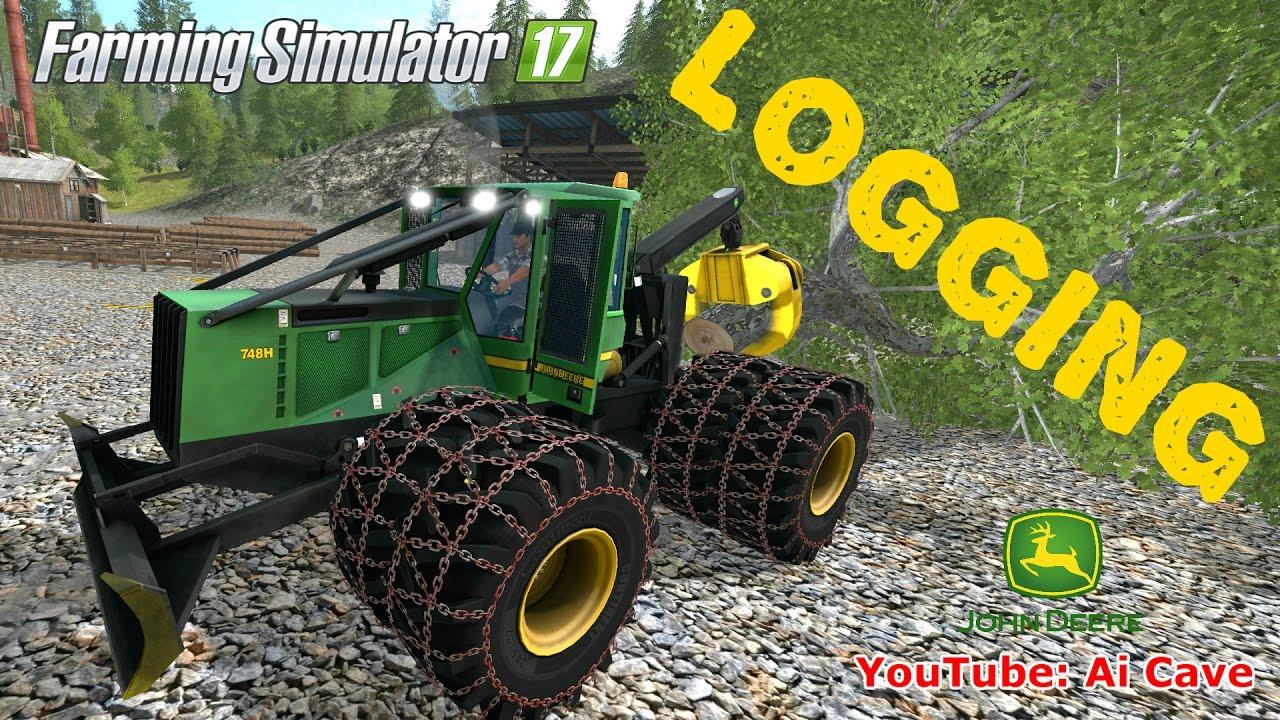 Farming Simulator 2017 - John Deere 748H Logging & Forestry Equipment Mod  Review