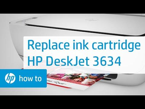 Replacing an Ink Cartridge on the HP DeskJet 3634 Printer | HP DeskJet | HP