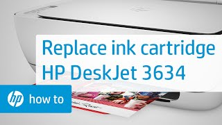 Replacing an Ink Cartridge on the HP DeskJet 3634 Printer