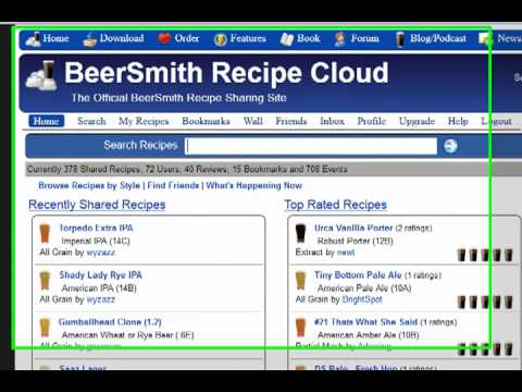 Uploading A Recipe To The BeerSmith Recipe Cloud