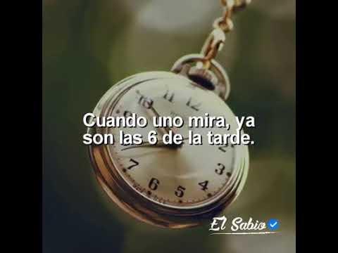 El tiempo pasa intenta vivir los momentos