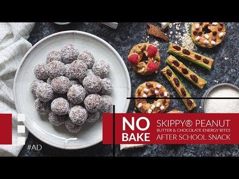 No Bake SKIPPY® Peanut Butter & Chocolate Energy Bites