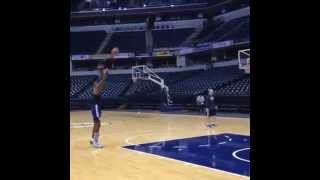 Paul George shooting with boot what's your excuse??