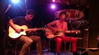 2年前のバンドのギターのやつとふたりで弾き語りライブ.