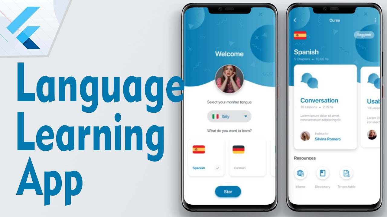 Language Learning Application from Scratch - Flutter UI Challenges