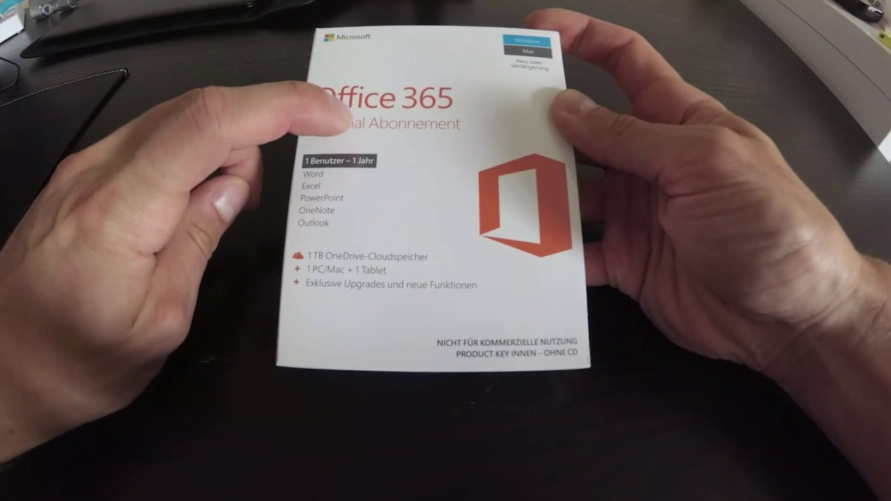 microsoft office 365 unboxing deutsch german youtube. Black Bedroom Furniture Sets. Home Design Ideas