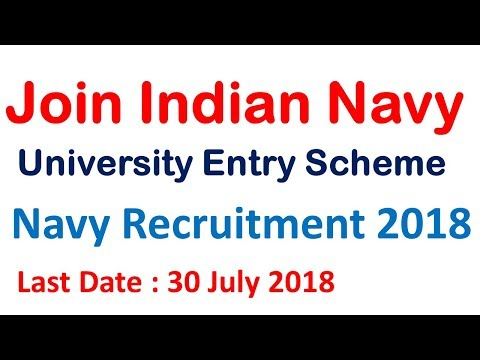 Join Indian Navy || Indian Navy University Entry Scheme || Navy UES 2018