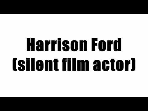 Harrison Ford (silent film actor)