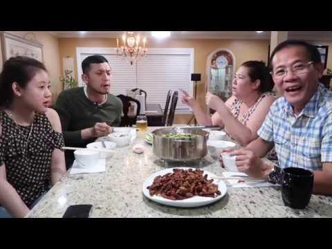 """Vlog 272 ll Lần đầu ăn món """" lưỡi vịt chiên giòn & xào sa tế , canh Hàn Quốc """""""