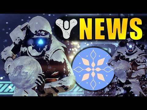 Destiny 2 News: THE DAWNING REVEALED! | Mayhem PvP! Snowball Fights! New Gear!