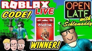Robux Regalar GANADOR En Vivo! Código de matriz de simulador de unbox ? Charity Roblox Livestream Schlamaddy