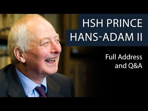 HSH Prince Hans-Adam II | Full Address and Q&A | Oxford Union