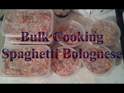 Spaghetti Bolognese Bulk Cooking.