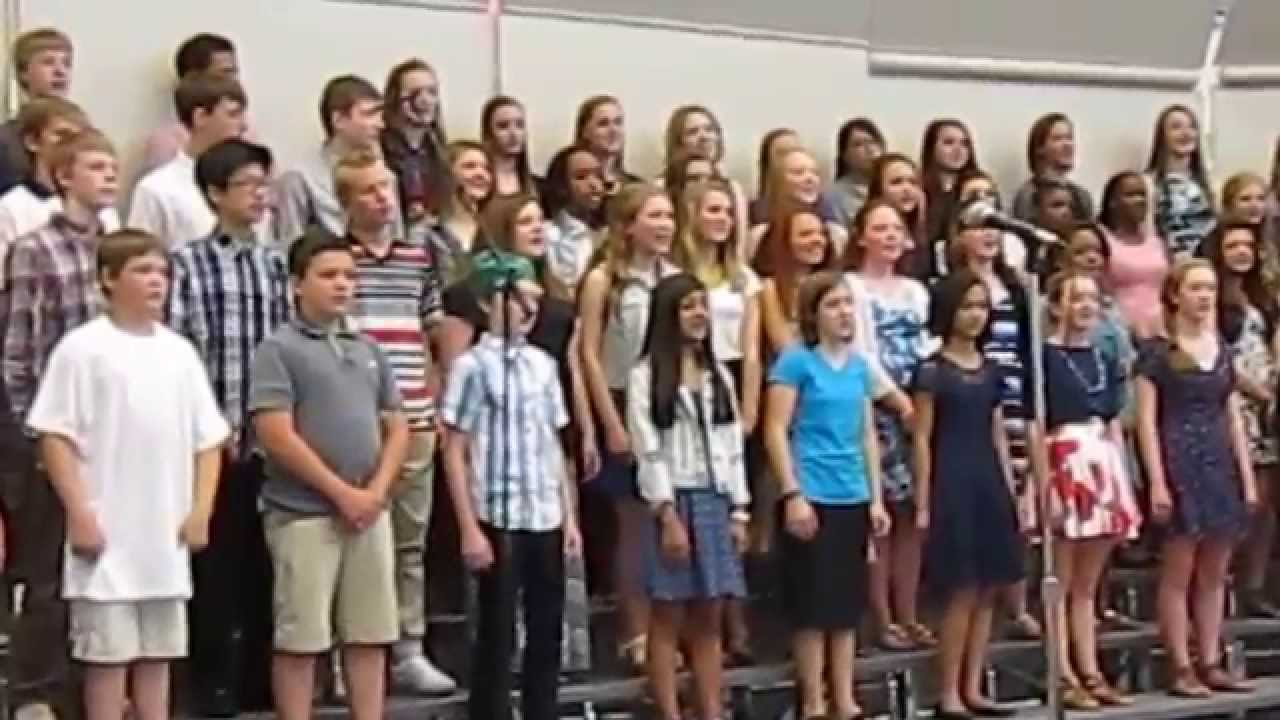 Scott Highlands Middle School Eighth-Grade Choir: May 28, 2015