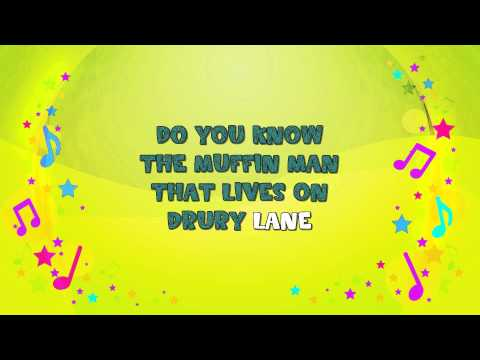 The Muffin Man | Karaoke | Nursery Rhyme | KiddieOK