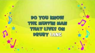 The Muffin Man | Karaoke | Nursery Rhyme | KiddieOK
