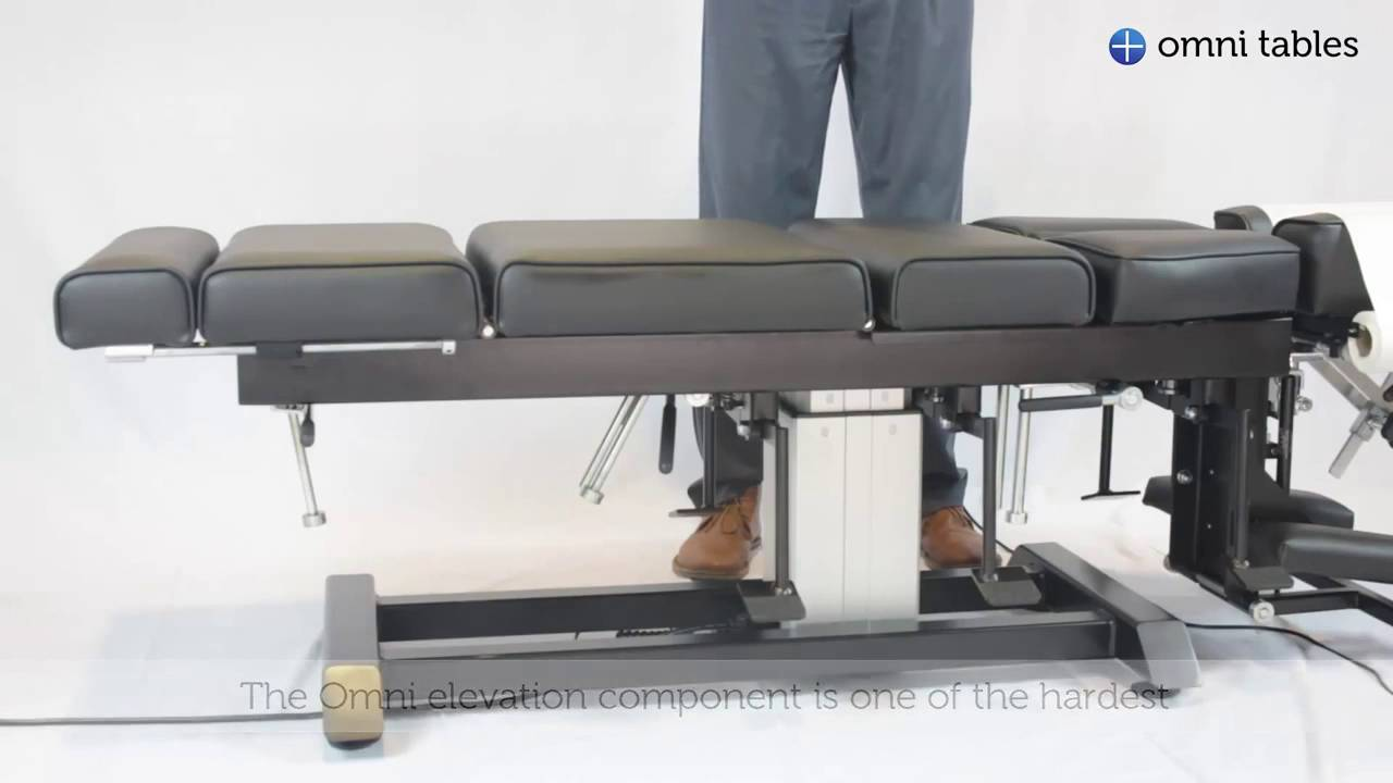 Omni Total Drop Elevation Chiropractic Table Youtube