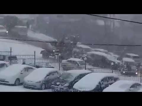 Russion winter car crash in Vladivostok November 2017