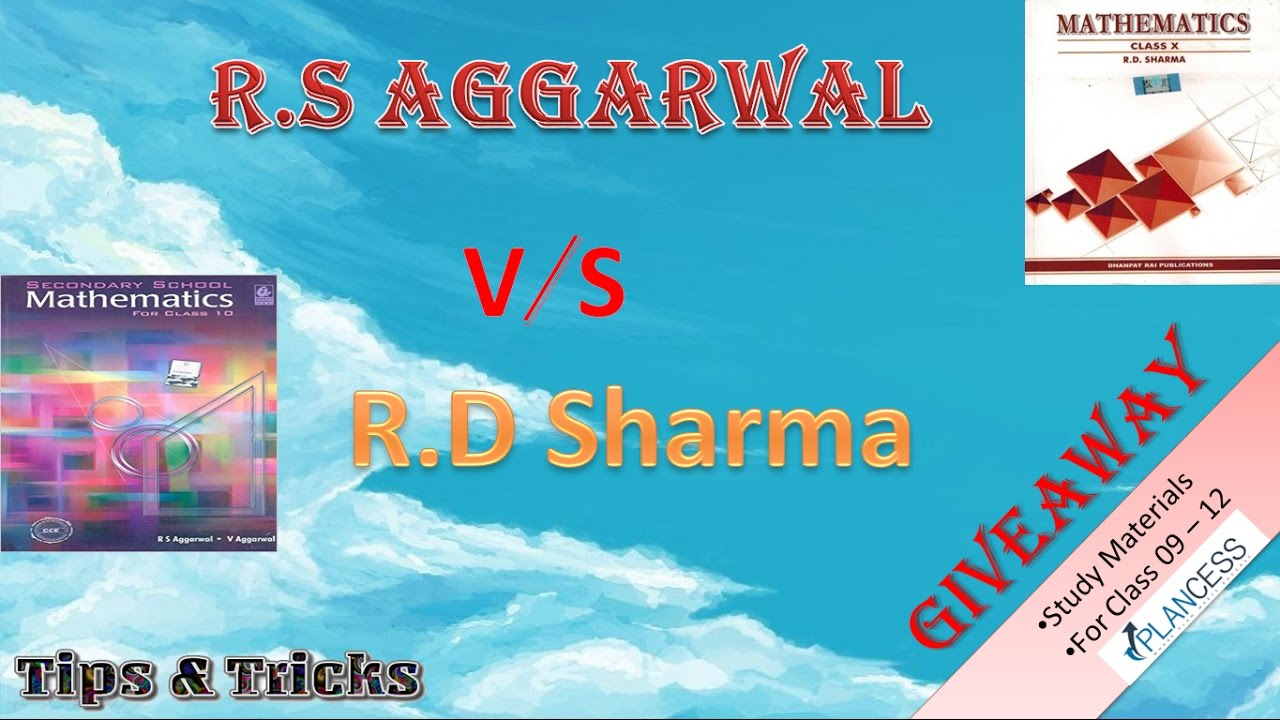 r s aggarwal vs r d sharma which one is best giveaway of study